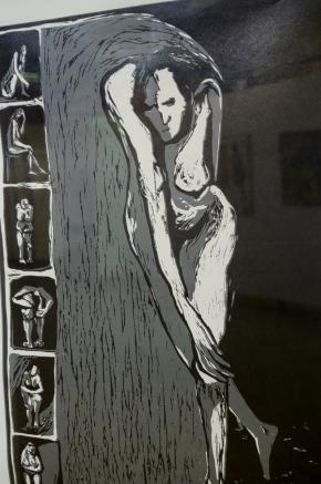 Hacer el Esfuerzo de Parase y Pies María Alejandra Ferrari Xilografia 2/5 48x70 Precio: $ 3000 ARS