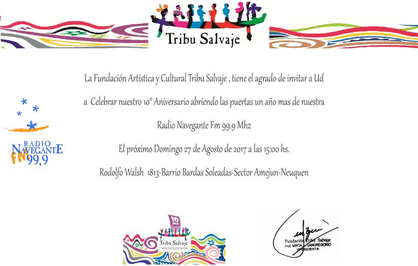 Invitacion 10 Aniverario