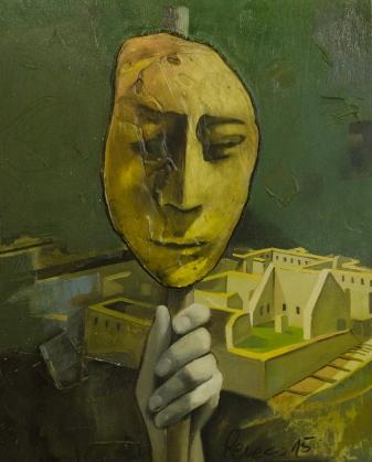 El inca Rubén Reveco 2015 Óleo s/madera contra. 40x50 Precio: $ 4000 ARS
